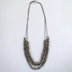 J JILL triple layer nugget necklace
